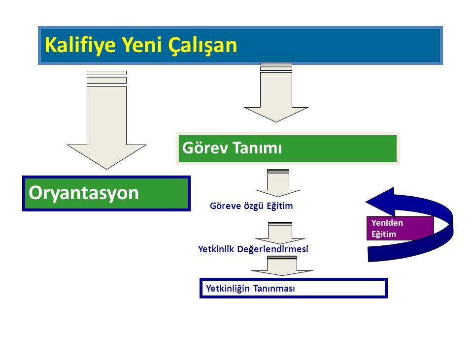 Kalifiye Yeni Çalışan Oryantasyon Görev Tanımı Göreve özgü Eğitim
