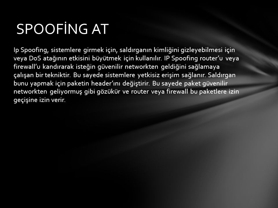 SPOOFİNG AT