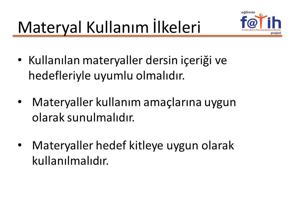 Materyal Kullanım İlkeleri