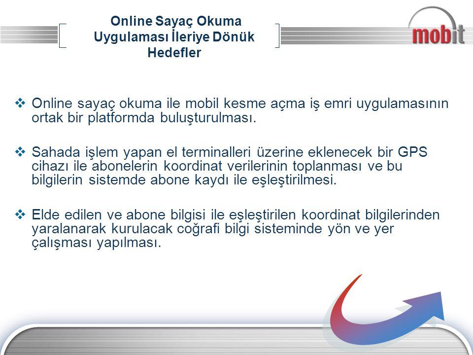 Online Sayaç Okuma Uygulaması İleriye Dönük Hedefler