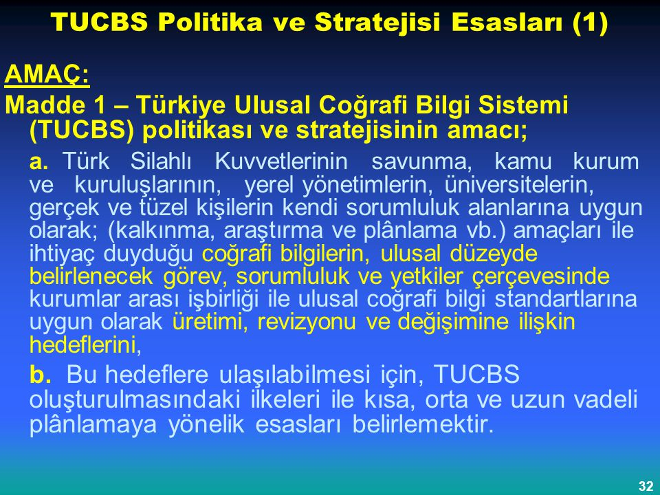 TUCBS Politika ve Stratejisi Esasları (1)