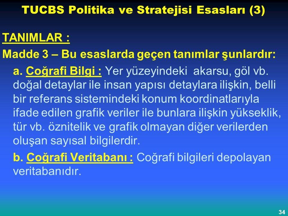 TUCBS Politika ve Stratejisi Esasları (3)