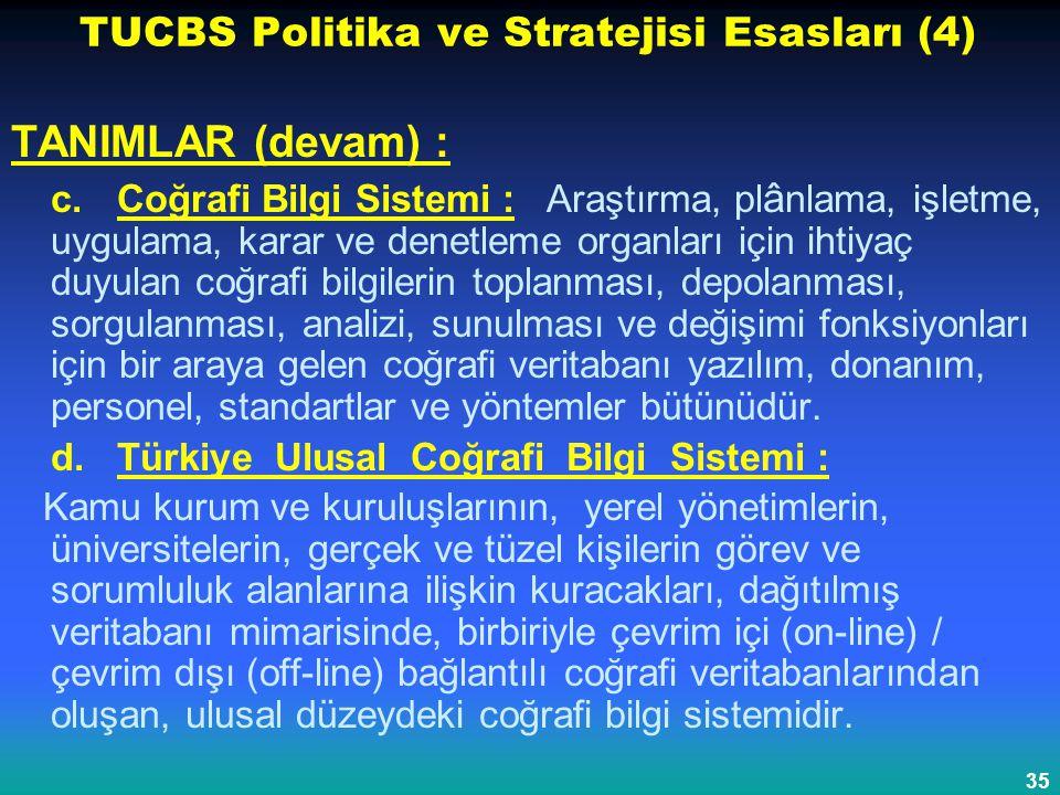 TUCBS Politika ve Stratejisi Esasları (4)