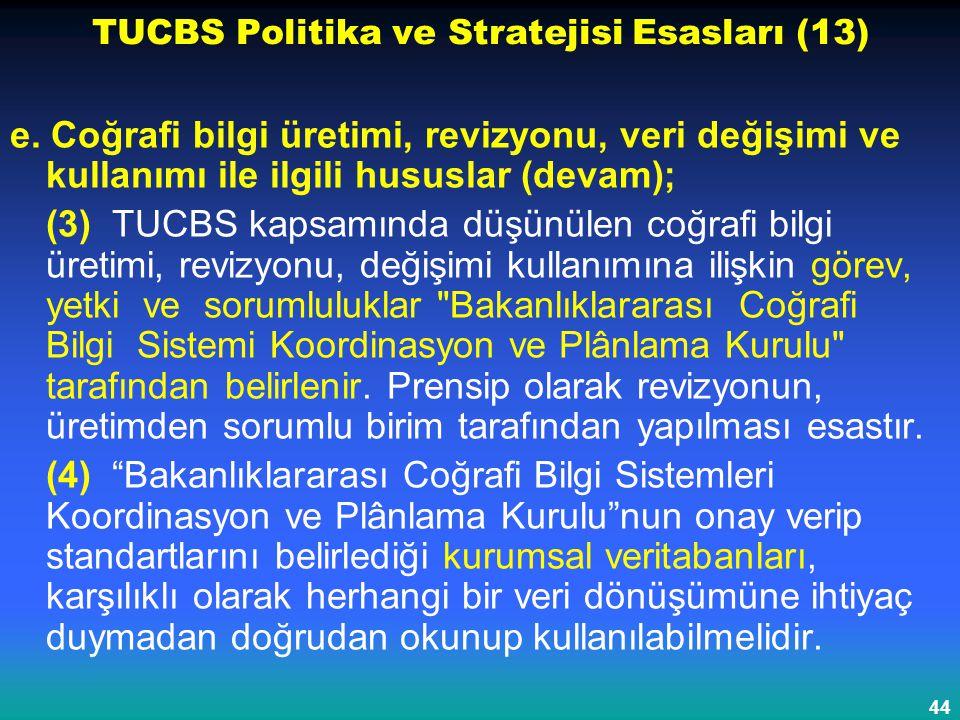 TUCBS Politika ve Stratejisi Esasları (13)