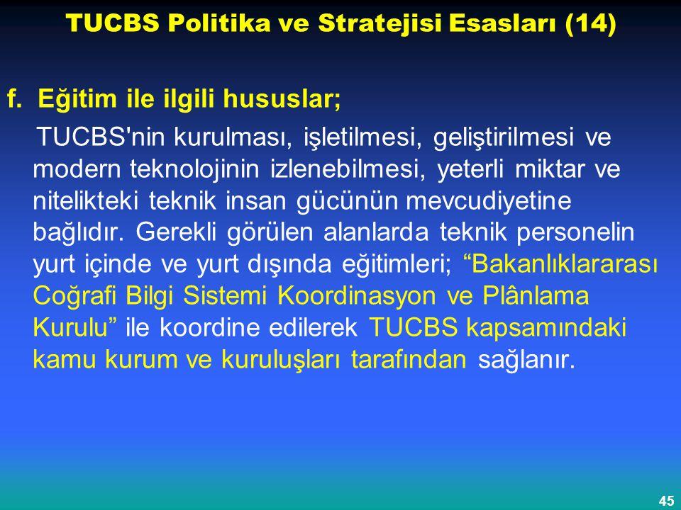 TUCBS Politika ve Stratejisi Esasları (14)