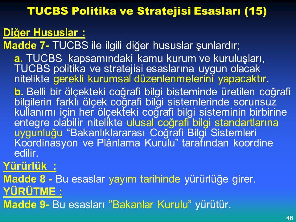 TUCBS Politika ve Stratejisi Esasları (15)