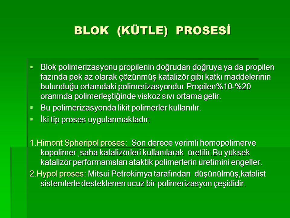BLOK (KÜTLE) PROSESİ