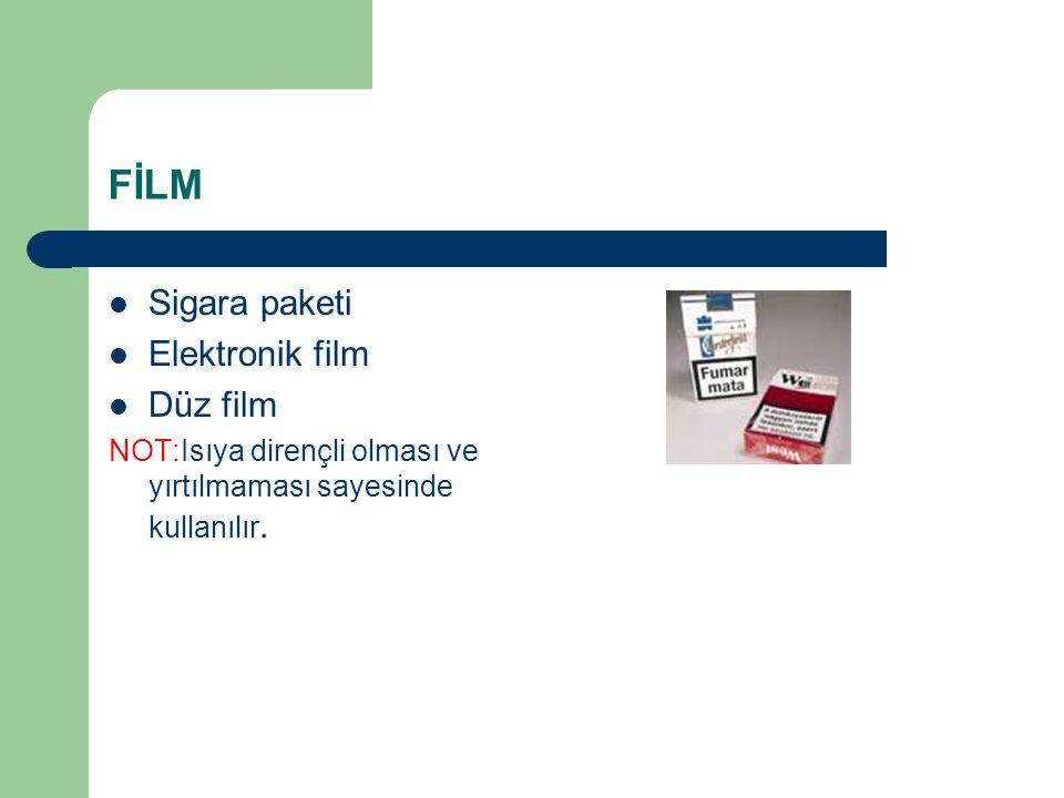 FİLM Sigara paketi Elektronik film Düz film