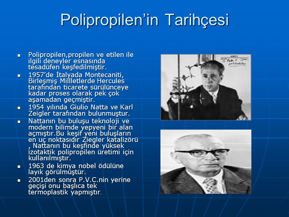 Polipropilen'in Tarihçesi