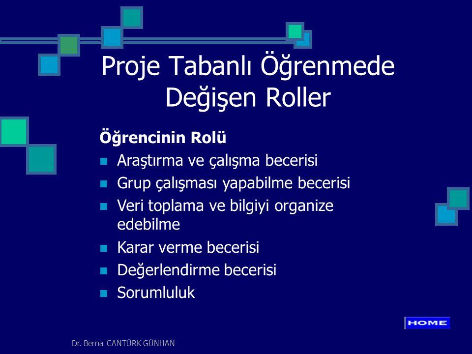 Proje Tabanlı Öğrenmede Değişen Roller