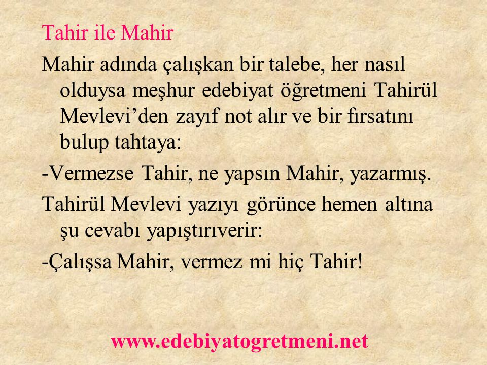 Tahir ile Mahir