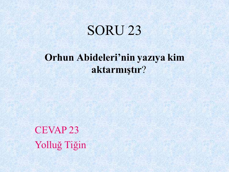 Orhun Abideleri'nin yazıya kim aktarmıştır