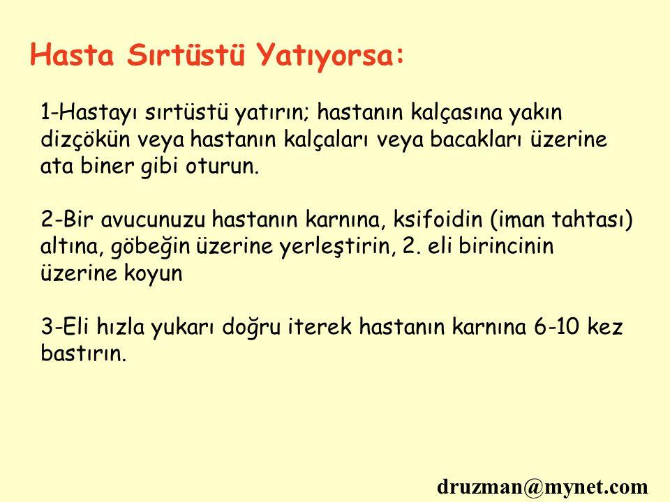 Hasta Sırtüstü Yatıyorsa: