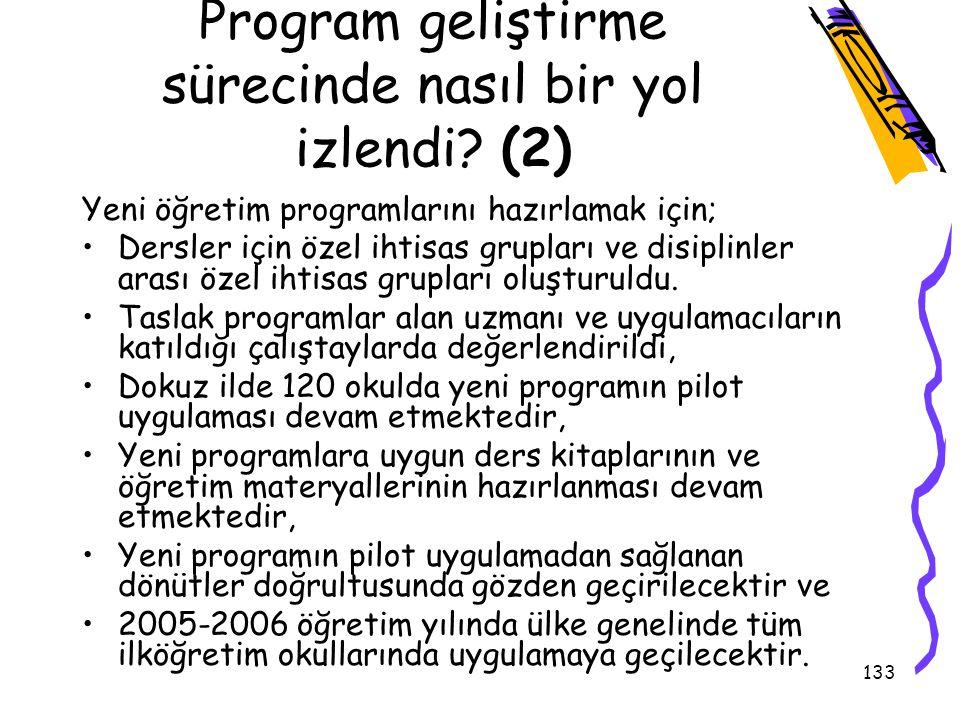 Program geliştirme sürecinde nasıl bir yol izlendi (2)