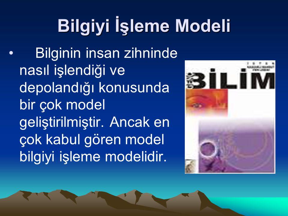 Bilgiyi İşleme Modeli
