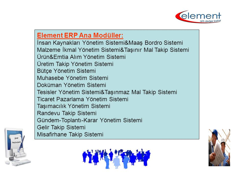 Element ERP Ana Modüller: