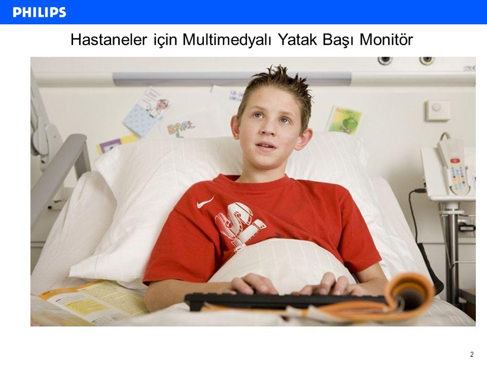 Hastaneler için Multimedyalı Yatak Başı Monitör