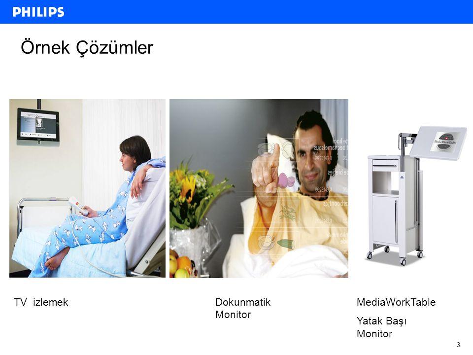 Örnek Çözümler TV izlemek Dokunmatik Monitor MediaWorkTable