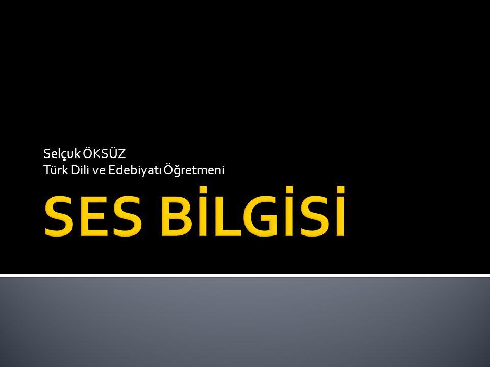 Selçuk ÖKSÜZ Türk Dili ve Edebiyatı Öğretmeni