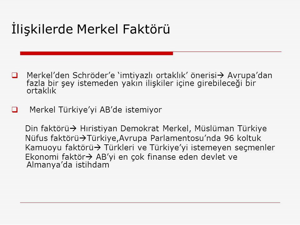 İlişkilerde Merkel Faktörü