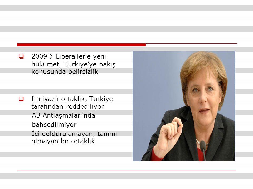 2009 Liberallerle yeni hükümet, Türkiye'ye bakış konusunda belirsizlik