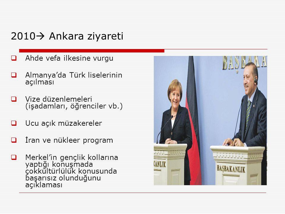 2010 Ankara ziyareti Ahde vefa ilkesine vurgu