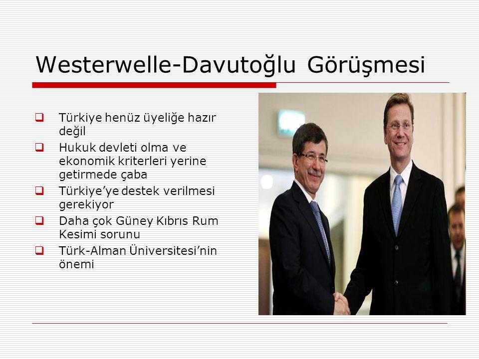 Westerwelle-Davutoğlu Görüşmesi