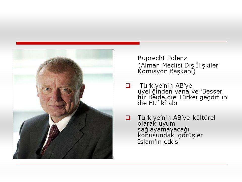 Ruprecht Polenz (Alman Meclisi Dış İlişkiler Komisyon Başkanı)