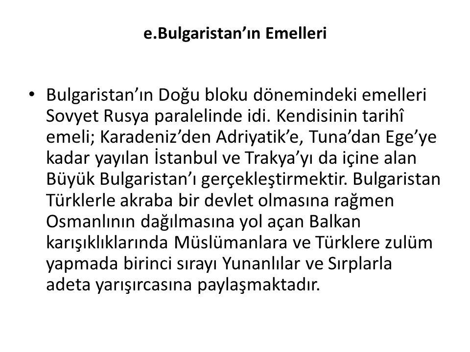e.Bulgaristan'ın Emelleri