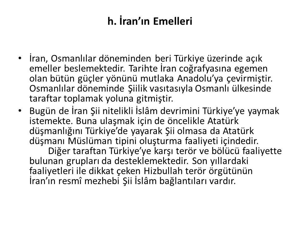 h. İran'ın Emelleri