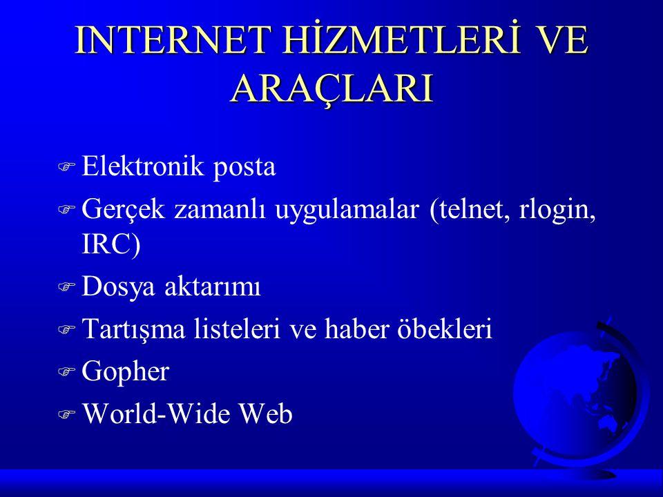 INTERNET HİZMETLERİ VE ARAÇLARI