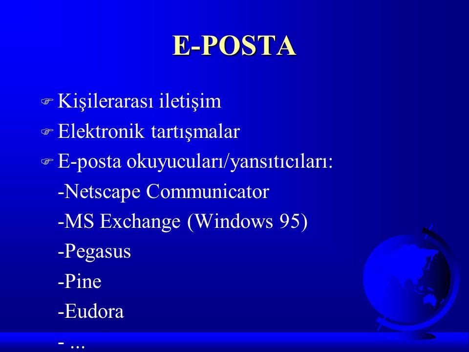 E-POSTA Kişilerarası iletişim Elektronik tartışmalar