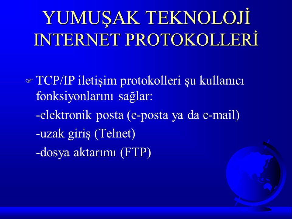 YUMUŞAK TEKNOLOJİ INTERNET PROTOKOLLERİ