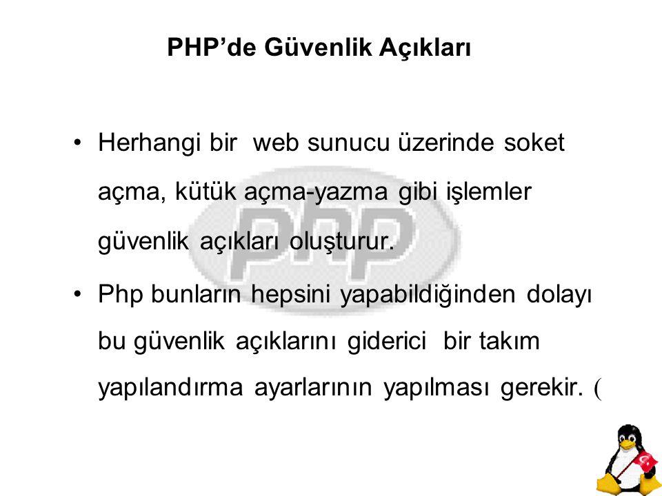 PHP'de Güvenlik Açıkları