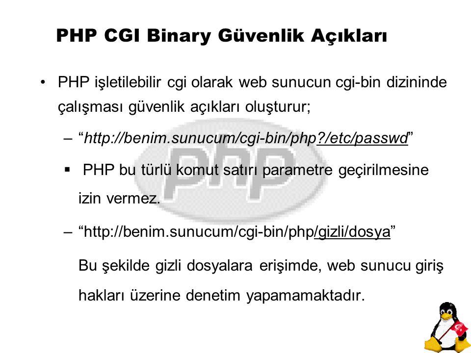 PHP CGI Binary Güvenlik Açıkları