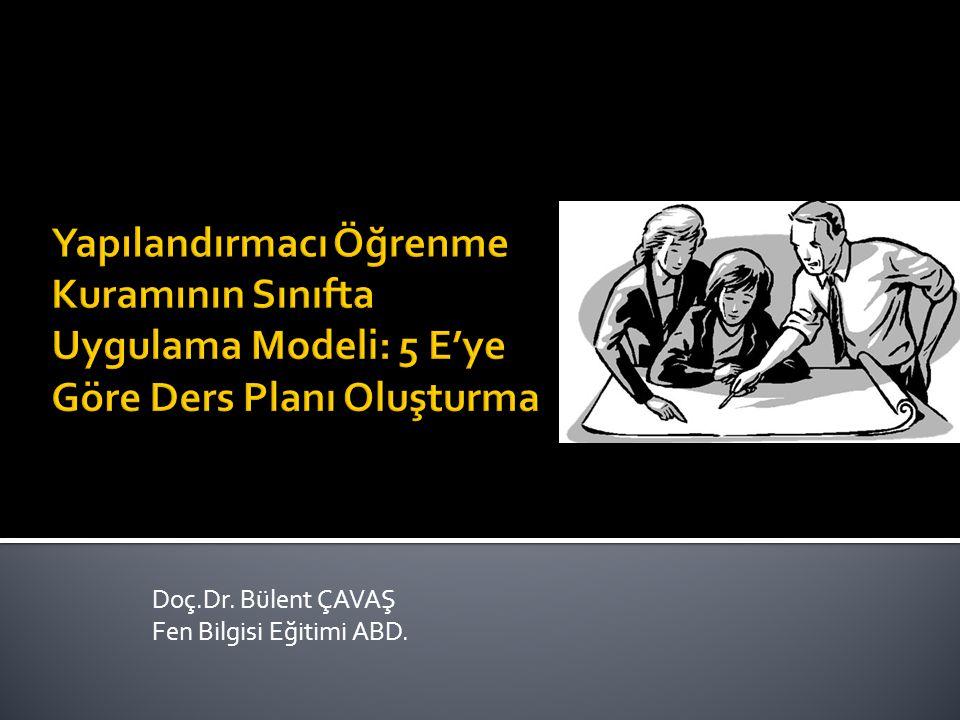 Doç.Dr. Bülent ÇAVAŞ Fen Bilgisi Eğitimi ABD.