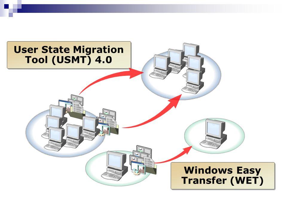 User State Migration Tool (USMT) 4.0 Windows Easy Transfer (WET)