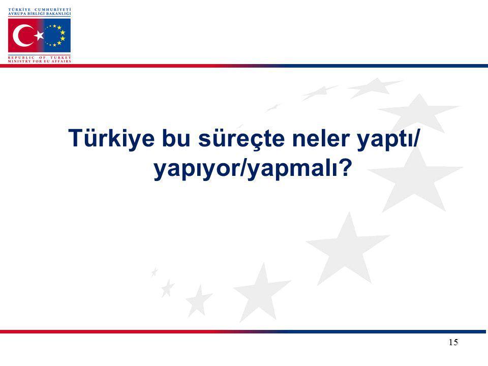 Türkiye bu süreçte neler yaptı/ yapıyor/yapmalı