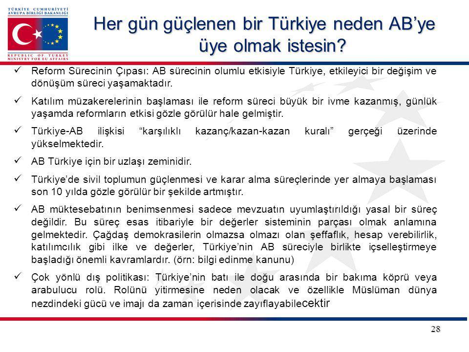 Her gün güçlenen bir Türkiye neden AB'ye üye olmak istesin