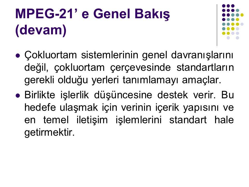 MPEG-21' e Genel Bakış (devam)