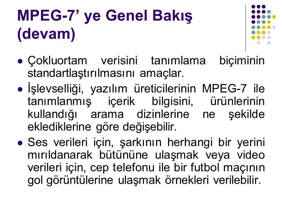 MPEG-7' ye Genel Bakış (devam)