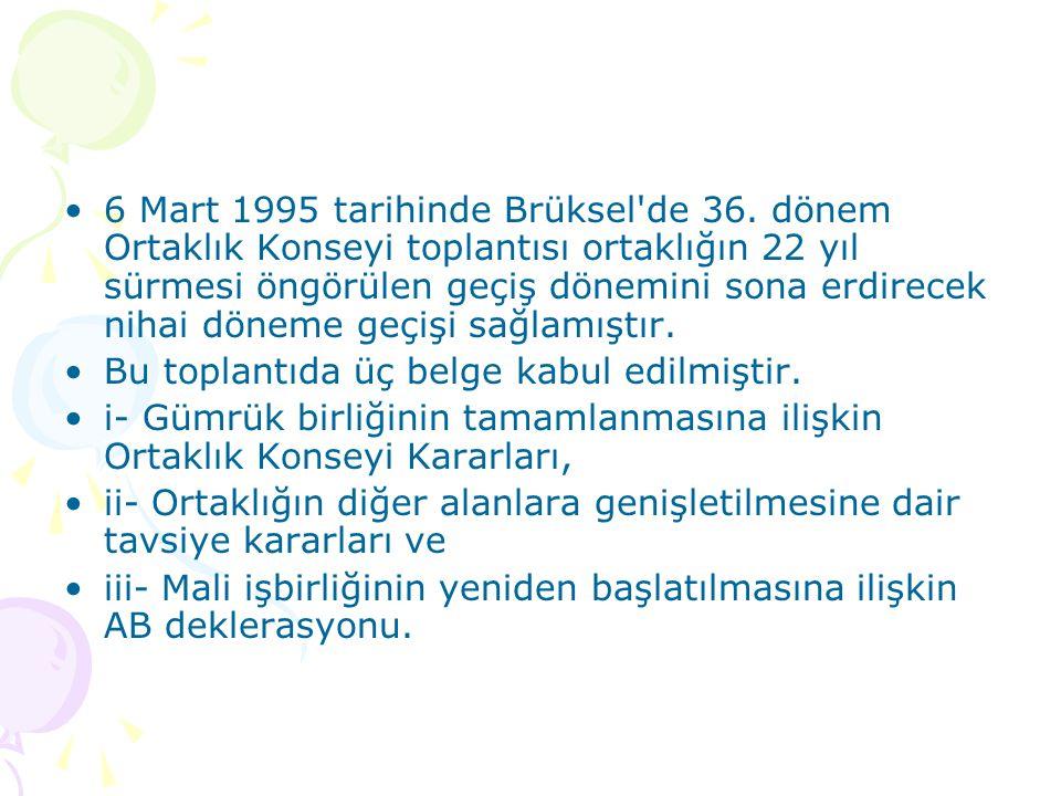 6 Mart 1995 tarihinde Brüksel de 36