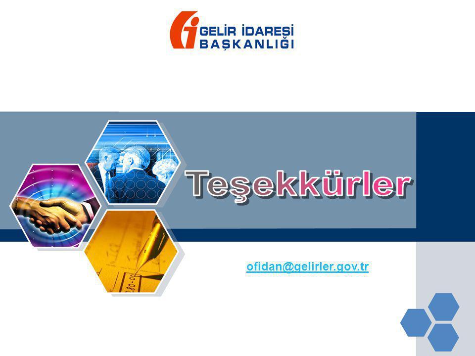 Teşekkürler ofidan@gelirler.gov.tr