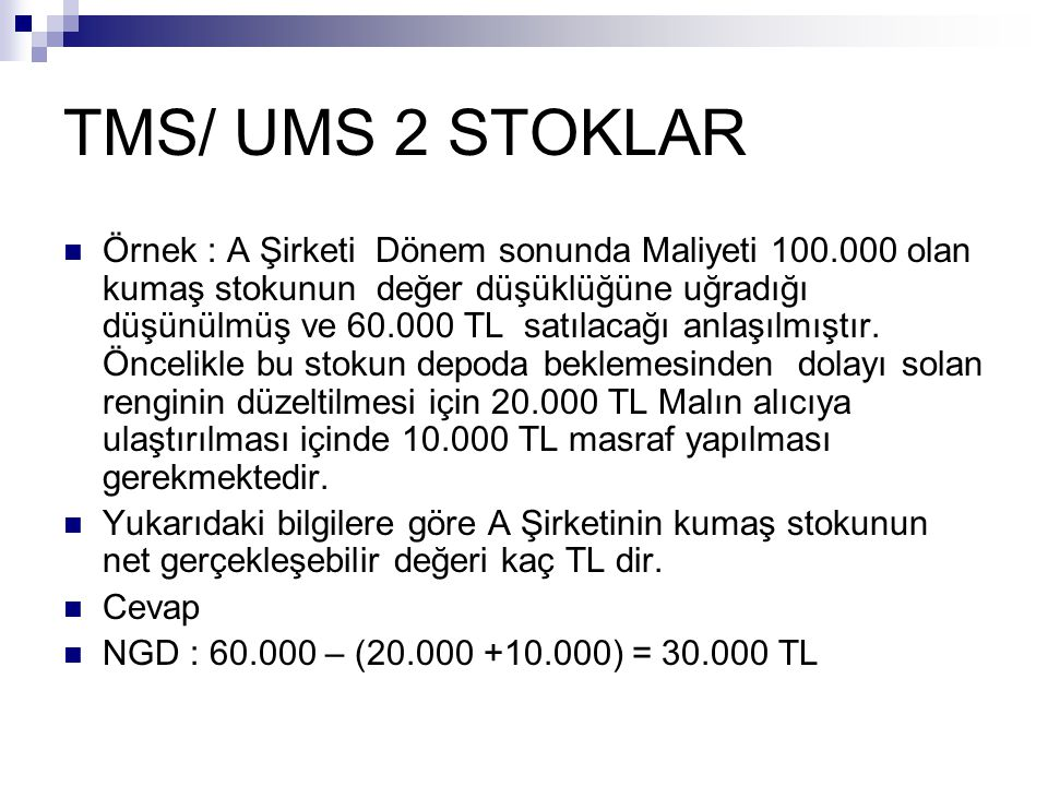 TMS/ UMS 2 STOKLAR