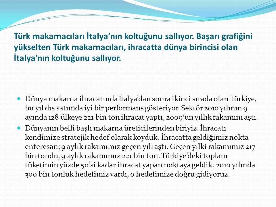 Türk makarnacıları İtalya'nın koltuğunu sallıyor