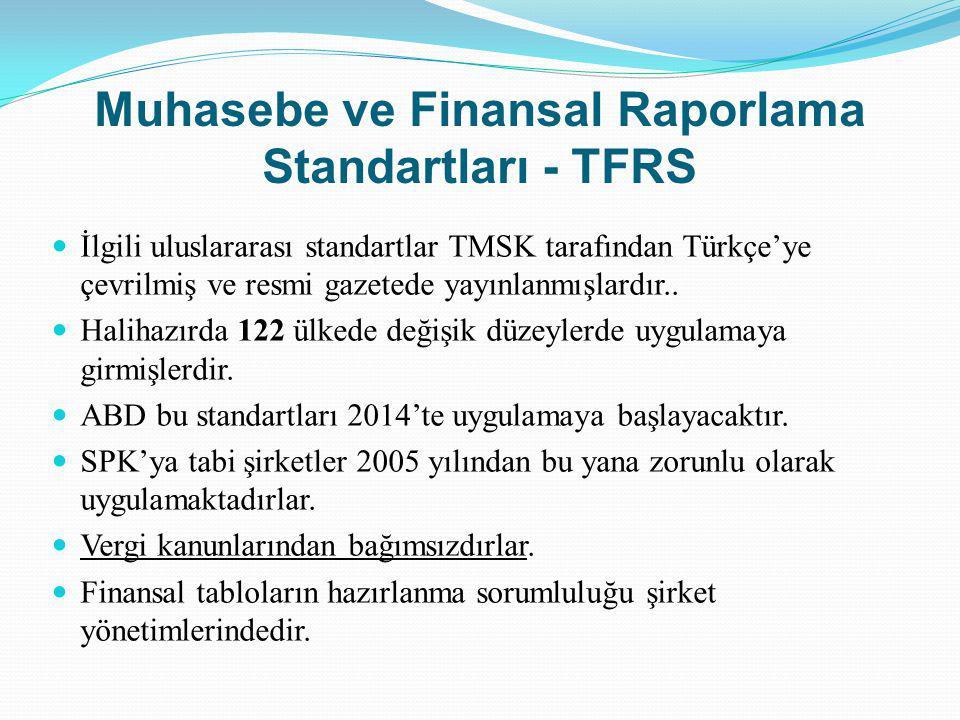 Muhasebe ve Finansal Raporlama Standartları - TFRS
