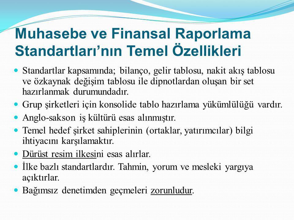 Muhasebe ve Finansal Raporlama Standartları'nın Temel Özellikleri