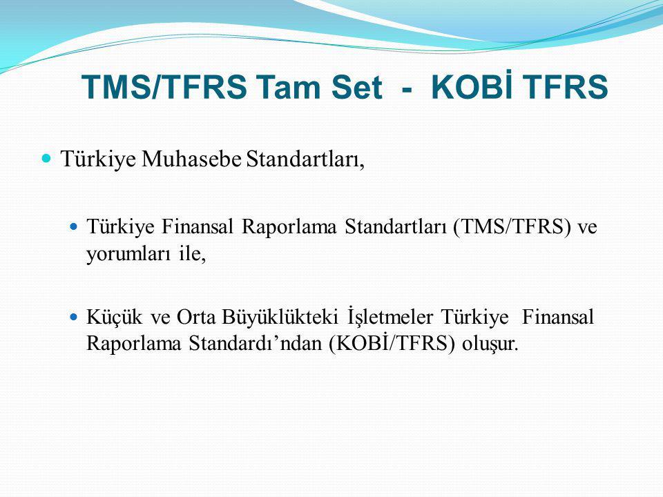 TMS/TFRS Tam Set - KOBİ TFRS