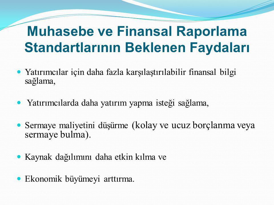 Muhasebe ve Finansal Raporlama Standartlarının Beklenen Faydaları
