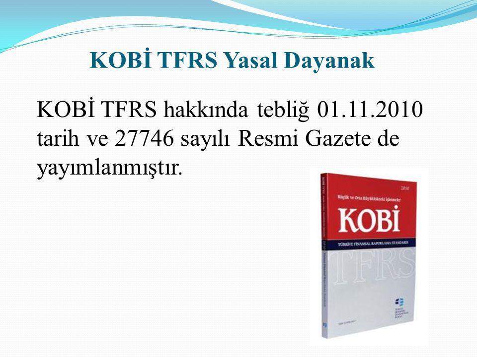 KOBİ TFRS Yasal Dayanak